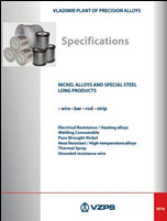 4Брошюра ВЗПС «Specifications. Nickel alloys and special steel long products»